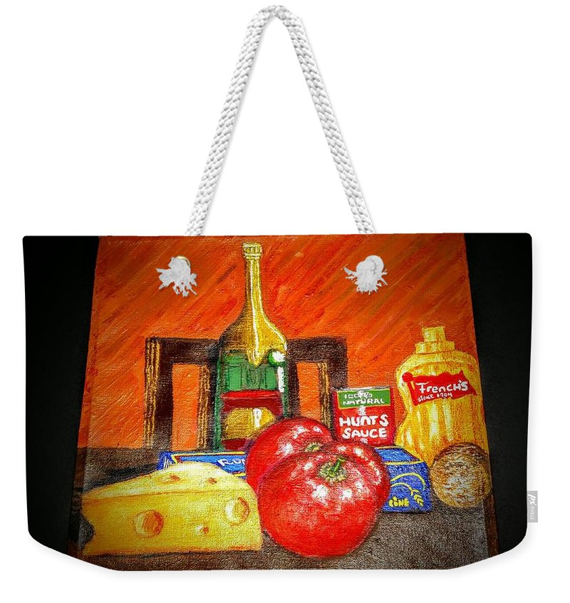 Italian Weekender Tote Bag featuring the painting Bon Appetit by Duane Corey