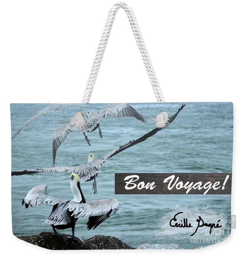 Pelican Weekender Tote Bag featuring the photograph Bon Voyage by Cecille Gagne