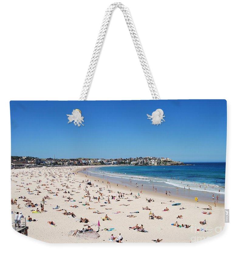 Bondi Beach Weekender Tote Bag featuring the photograph Bondi Beach In Sydney Australia by Catherine Sherman