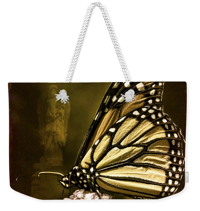 Monarch Weekender Tote Bag featuring the photograph Boneyard Butterfly by Chris Lord