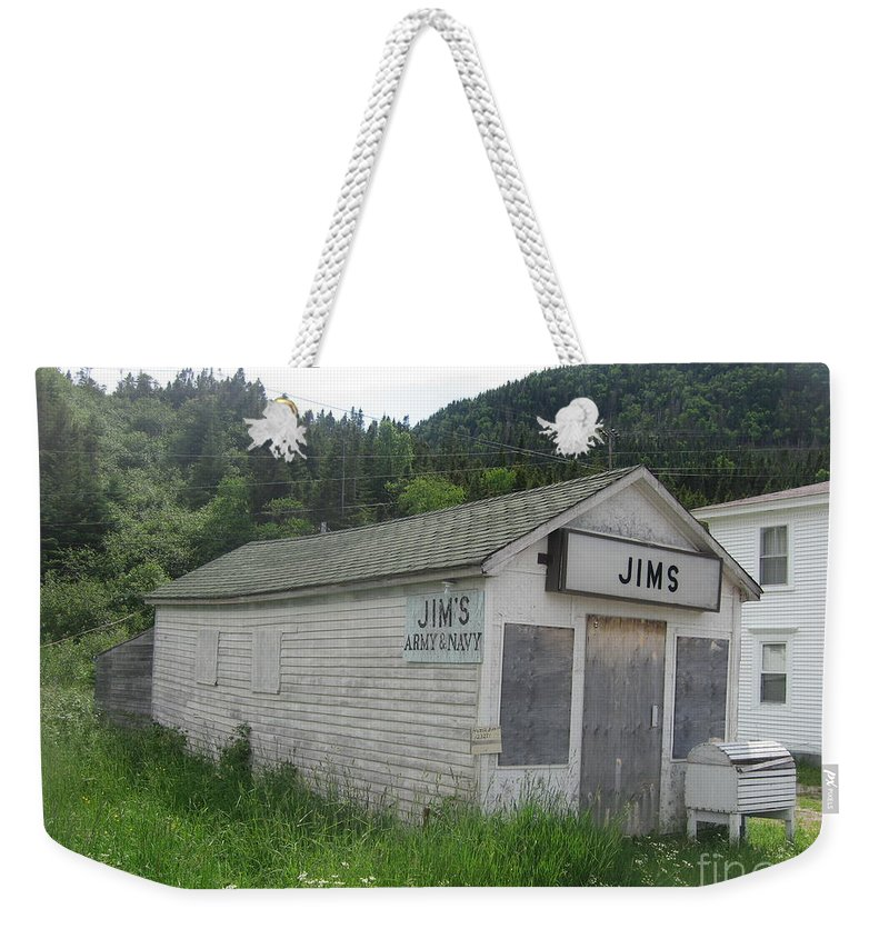 Photograph Bonne Bay Newfoundland Army Navy Store Weekender Tote Bag featuring the photograph Bonne Bay2 by Seon-Jeong Kim