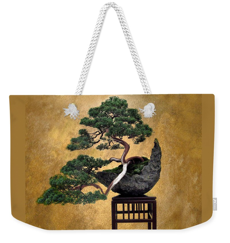 Tree Weekender Tote Bag featuring the photograph Bonsai 3 by Jessica Jenney