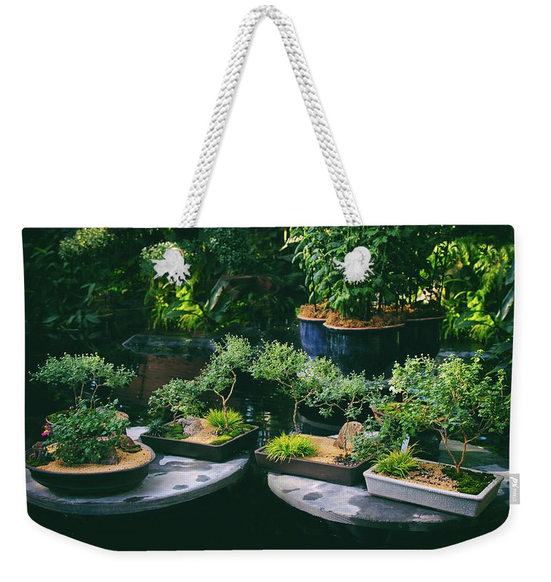 Bonsai Weekender Tote Bag featuring the photograph Bonsai Afloat by Jessica Jenney
