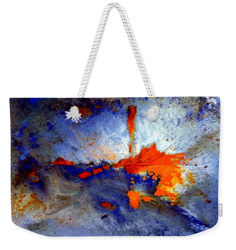 Rafael Salazar Weekender Tote Bag featuring the digital art Boom by Rafael Salazar