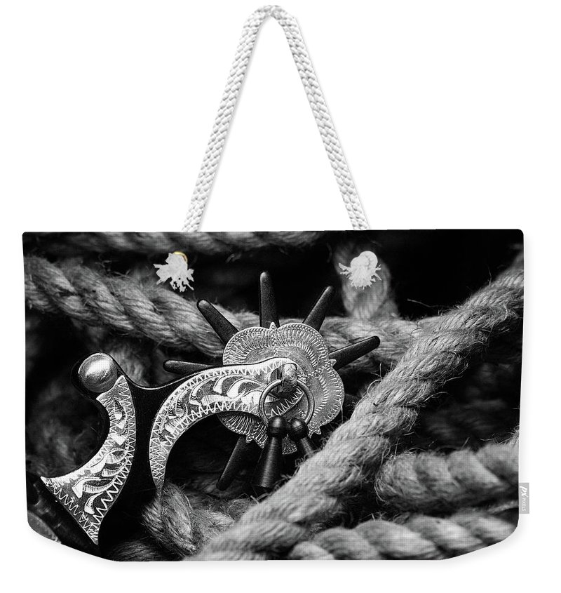 Spur Weekender Tote Bag featuring the photograph Boot Spur by Tom Mc Nemar