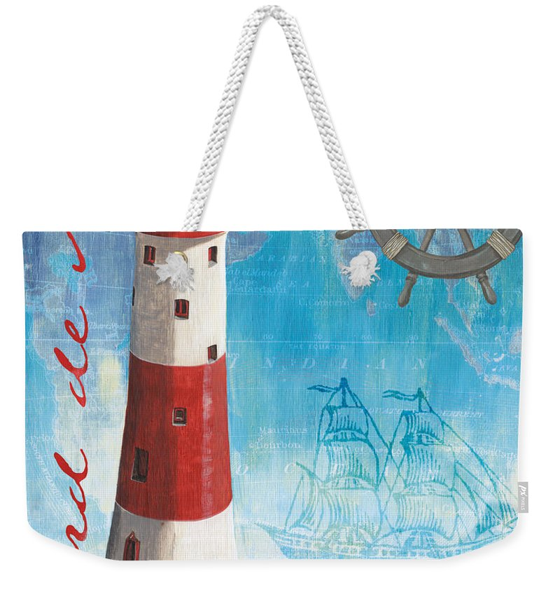 Coastal Weekender Tote Bag featuring the painting Bord De Mer by Debbie DeWitt