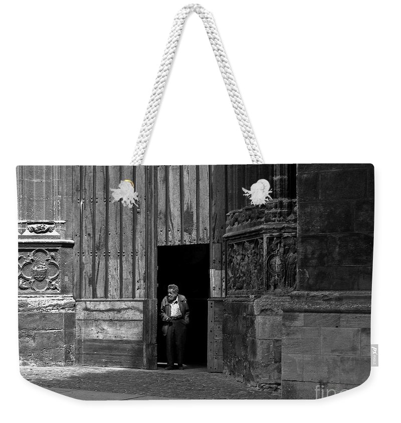 Bordeaux Weekender Tote Bag featuring the photograph Bordeaux Church Door by Thomas Marchessault