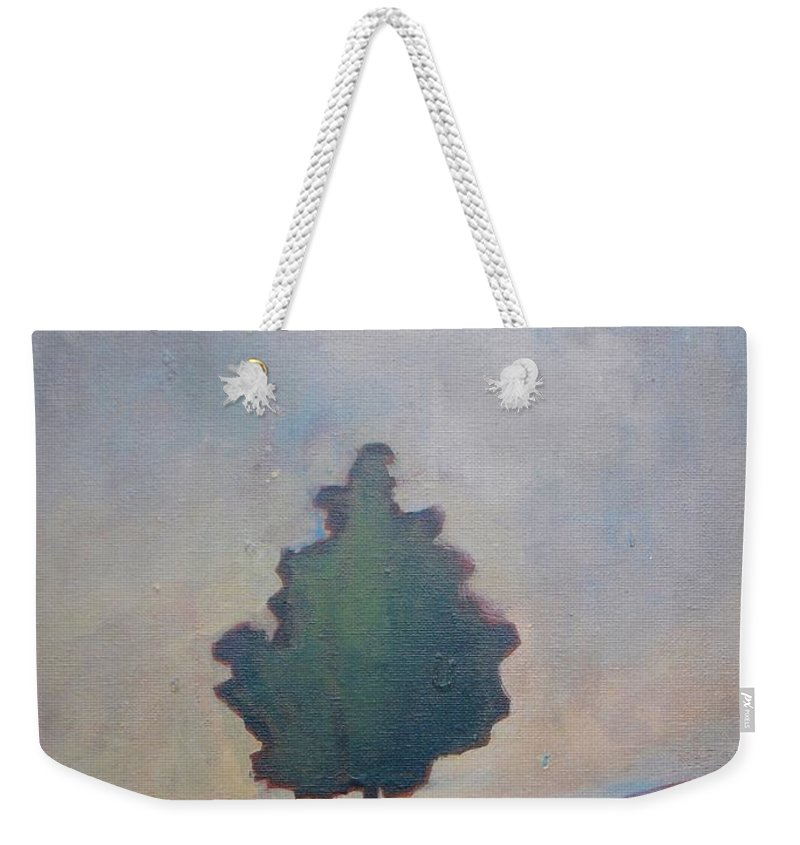 Tree Weekender Tote Bag featuring the painting Bordering Tree by Vesna Antic