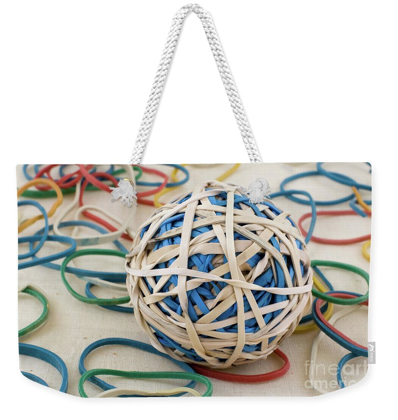 Abstract Weekender Tote Bag featuring the photograph Bored Sensless by Alan Look