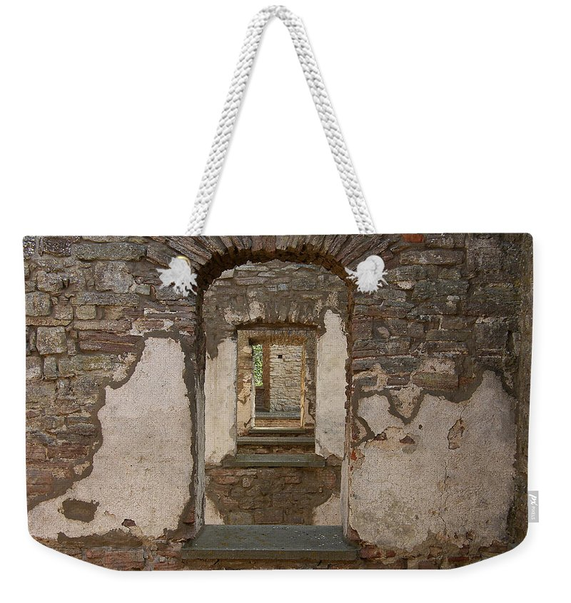 Arch Weekender Tote Bag featuring the photograph Borgholm Castle by Are Lund