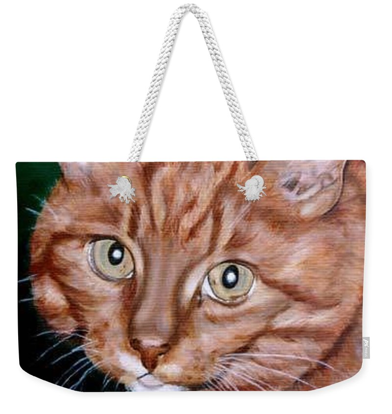 Pets Weekender Tote Bag featuring the painting Boris by Rob De Vries