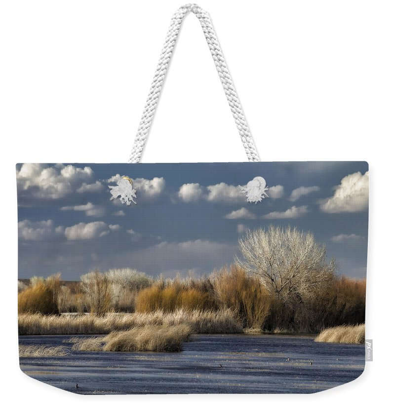 Bosque Del Apache Weekender Tote Bag featuring the photograph Bosque Del Apache 1 by Ingrid Smith-Johnsen
