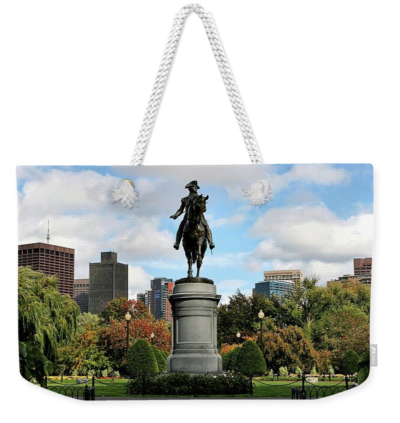 Boston Weekender Tote Bag featuring the photograph Boston Common by DJ Florek