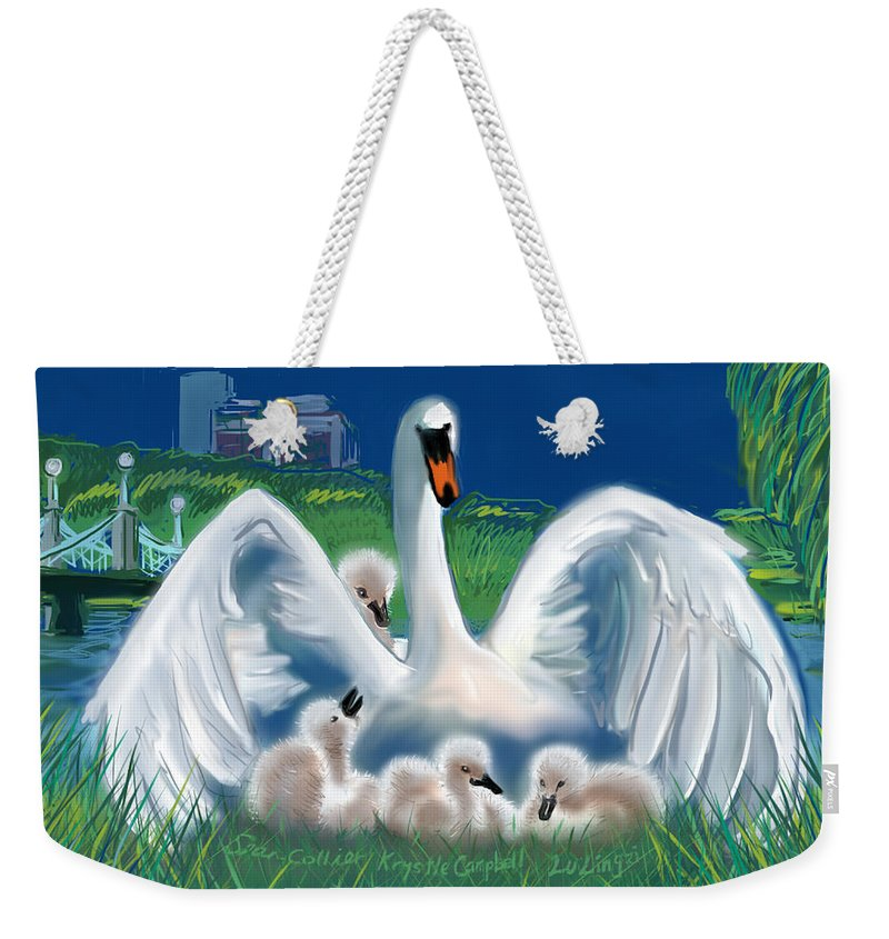 Martin Richard Weekender Tote Bag featuring the digital art Boston Embraces Her Own by Jean Pacheco Ravinski