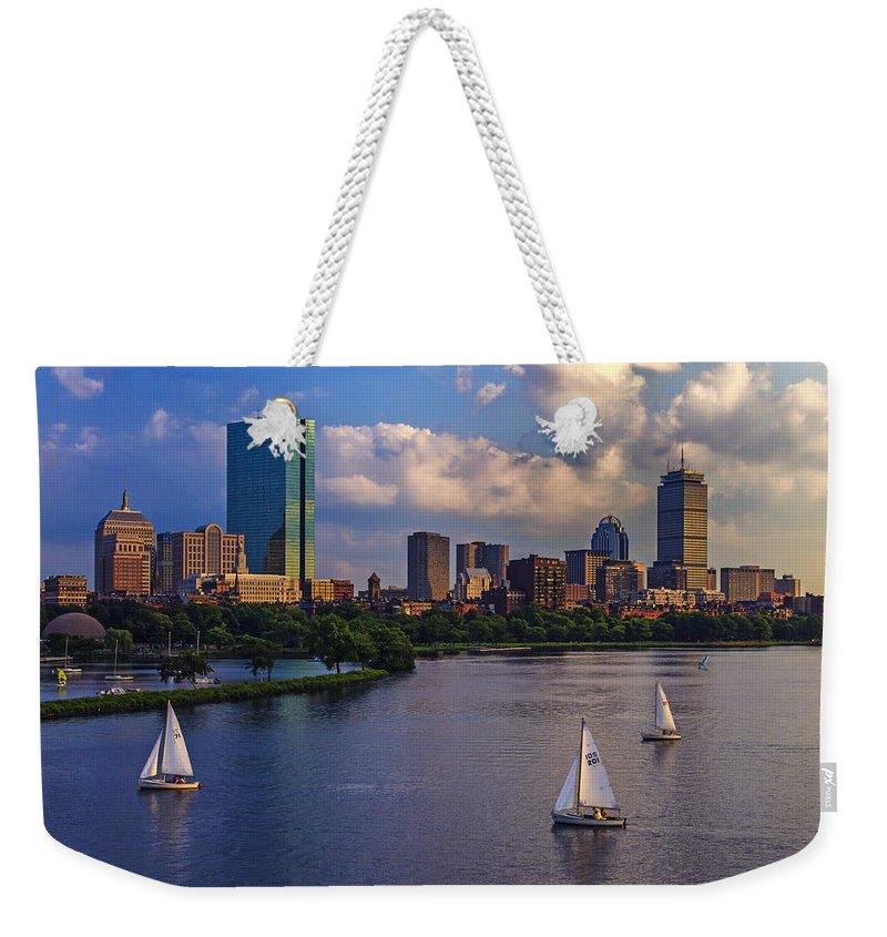 Hancock Building Weekender Tote Bags