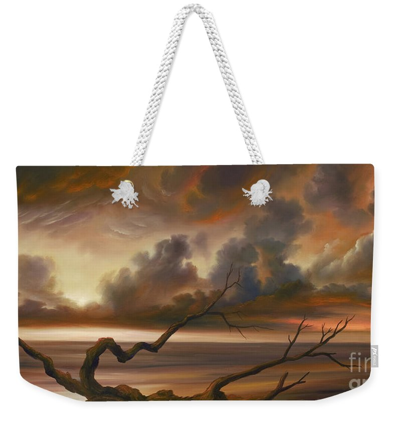 Ocean Weekender Tote Bag featuring the painting Botany Bay by James Christopher Hill