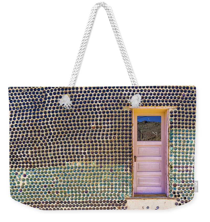 Architecture Weekender Tote Bag featuring the photograph Bottle House by Laura Roberts