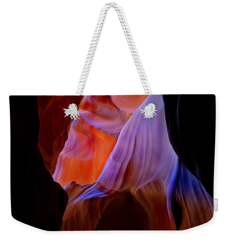 Canyon Weekender Tote Bag featuring the photograph Bottled Light by Mike Dawson
