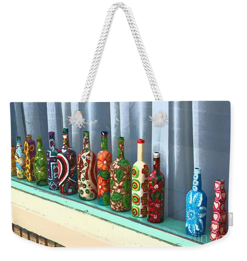 Bottles Weekender Tote Bag featuring the photograph Bottled Up by Debbi Granruth