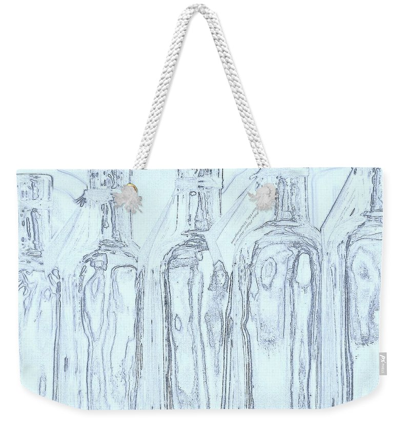 Seattle Weekender Tote Bag featuring the photograph Bottles 2 by Tim Allen