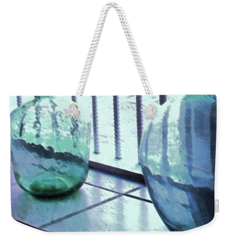Bottles Weekender Tote Bag featuring the photograph Bottles Still Life by Ian MacDonald