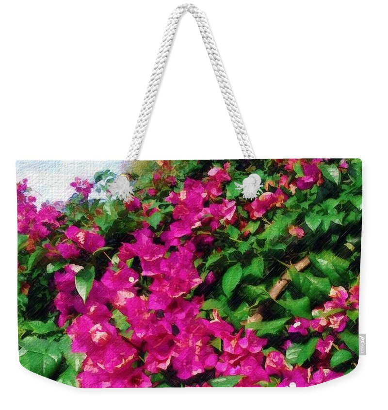 Bougainvillea Weekender Tote Bag featuring the photograph Bougainvillea by Sandy MacGowan