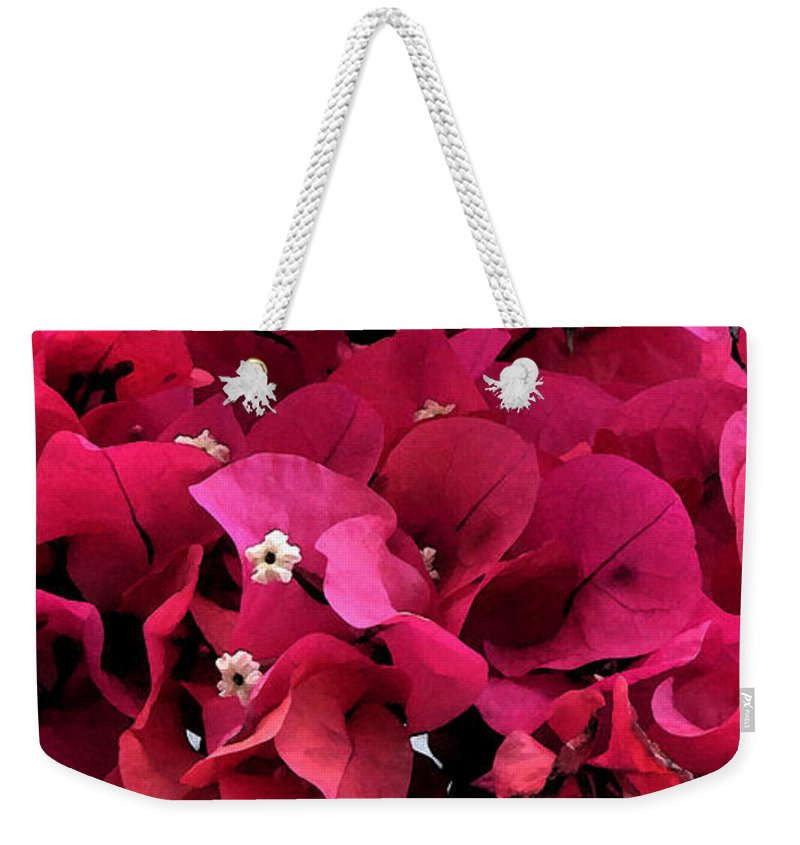 Flower Weekender Tote Bag featuring the photograph Bougainvillia by Ian MacDonald
