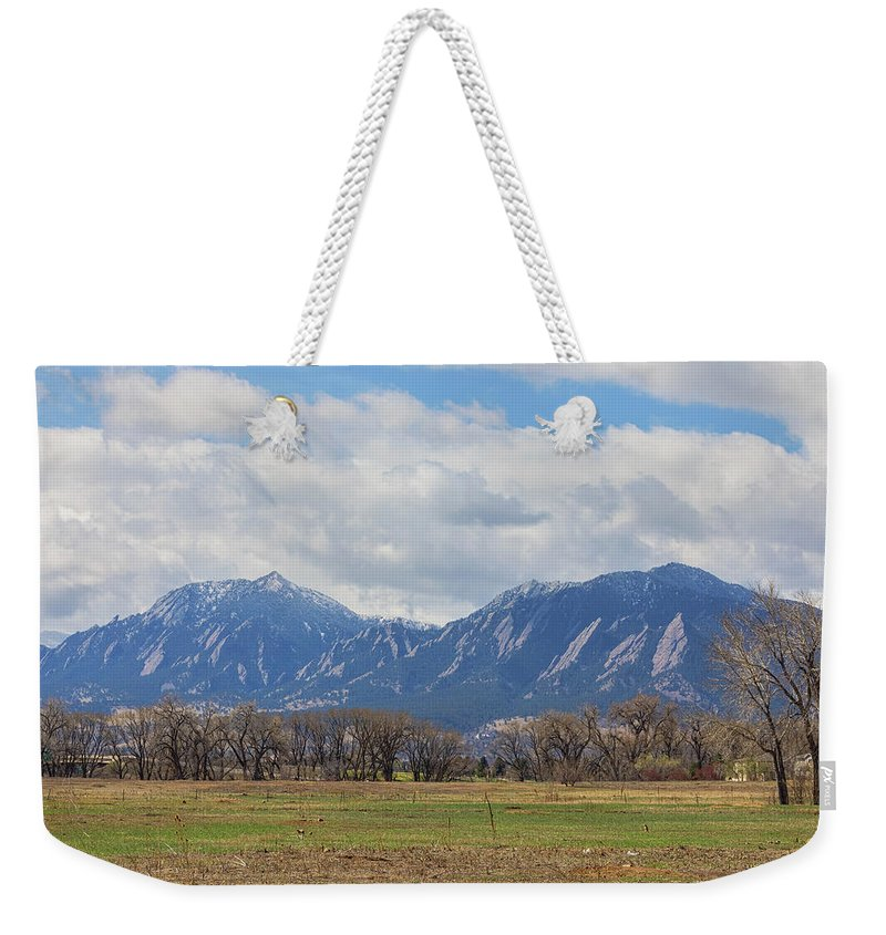 Boulder Weekender Tote Bag featuring the photograph Boulder Colorado Prairie Dog View by James BO Insogna