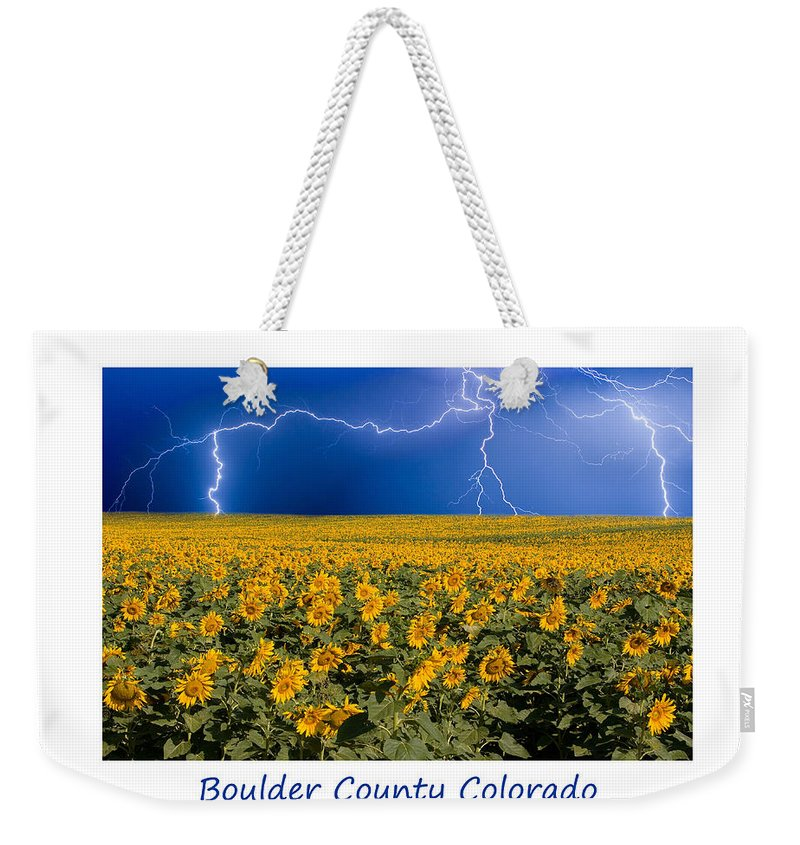 Lightning Weekender Tote Bag featuring the photograph Boulder County Colorado by James BO Insogna