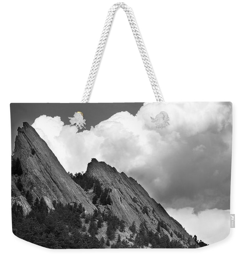 Flatirons Weekender Tote Bag featuring the photograph Boulder Flatirons 2 by Marilyn Hunt