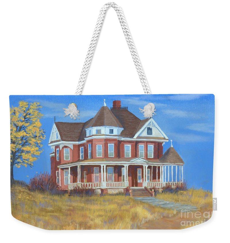 Boulder Weekender Tote Bag featuring the painting Boulder Victorian by Jerry McElroy