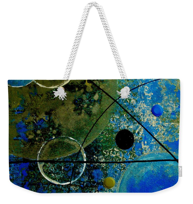 Abstract Weekender Tote Bag featuring the painting Bouncer by Ruth Palmer