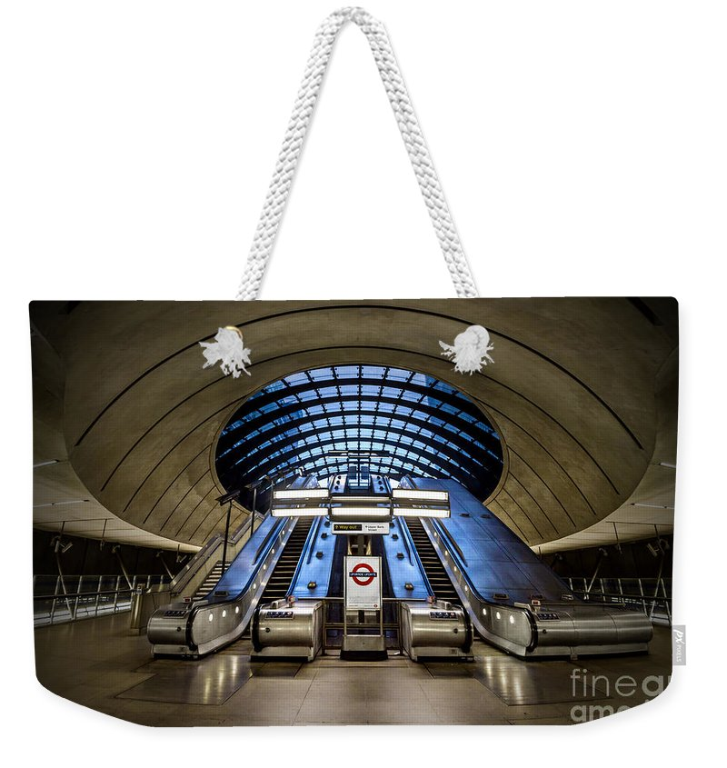 Kremsdorf Weekender Tote Bag featuring the photograph Bound For The Underground by Evelina Kremsdorf
