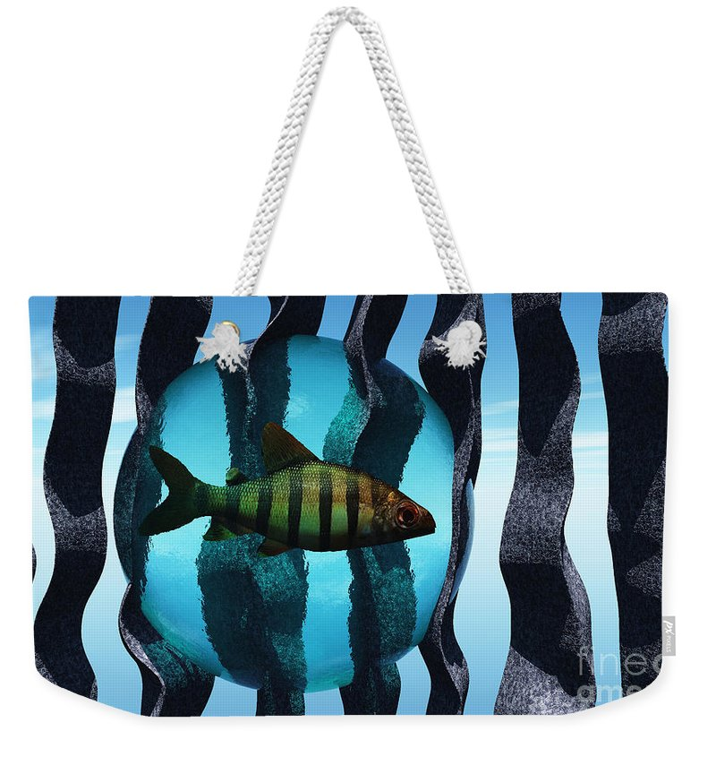 Surreal Weekender Tote Bag featuring the digital art Bound by Richard Rizzo