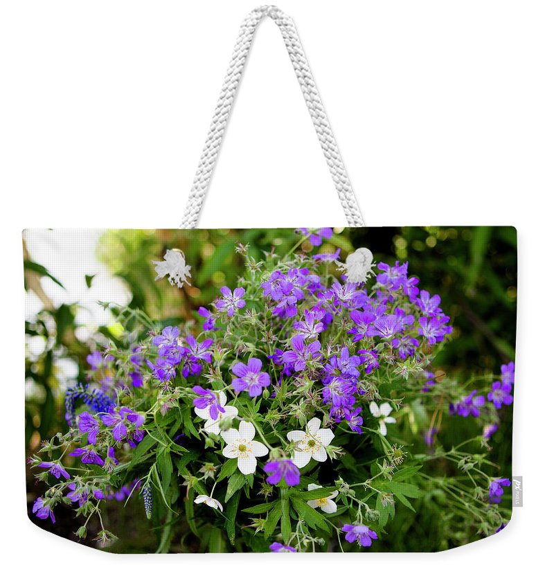 Flower Weekender Tote Bag featuring the photograph Bouquet by Edward Nekrasov
