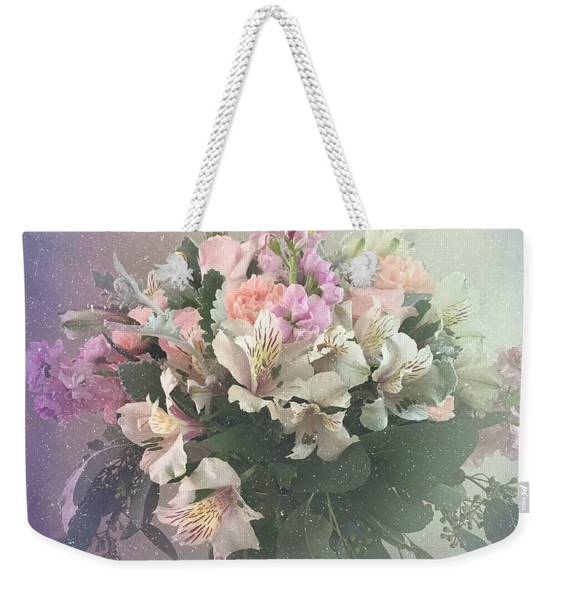 Purple Weekender Tote Bag featuring the photograph Bouquet Of Love by Luther Fine Art