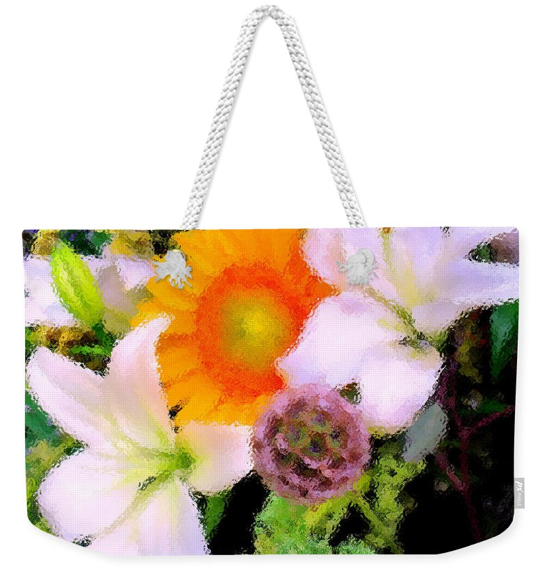 Sun Weekender Tote Bag featuring the photograph Bouquet Softly There by Ian MacDonald