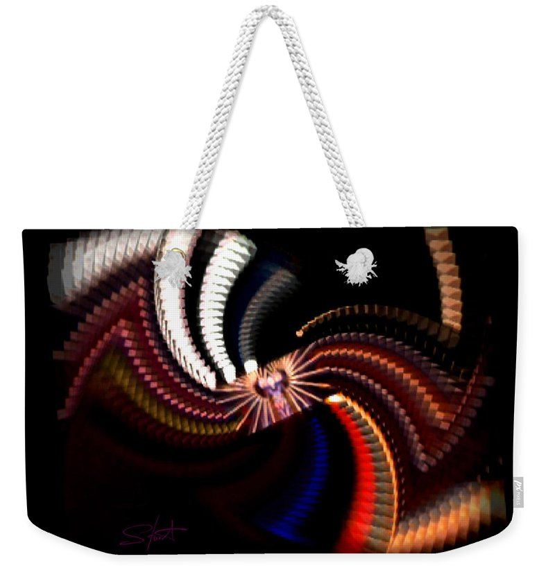 Chaos Weekender Tote Bag featuring the photograph Bow Tie by Charles Stuart