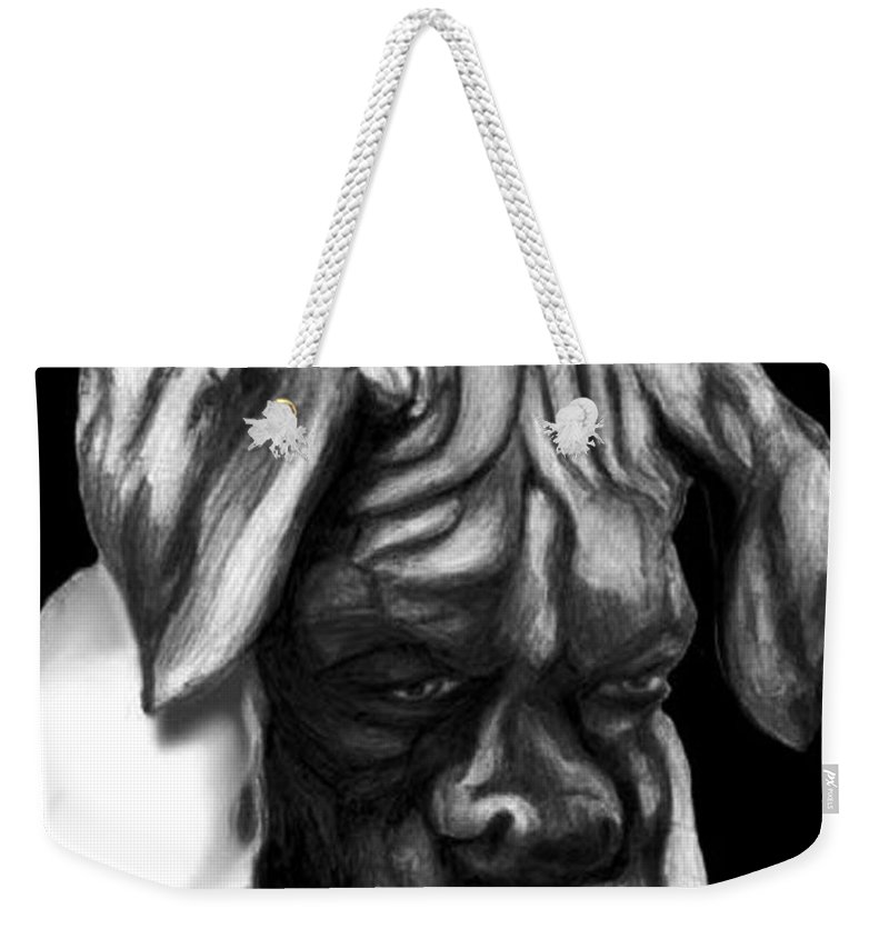 Animals Weekender Tote Bag featuring the painting Boxer Puppy by Portraits By NC
