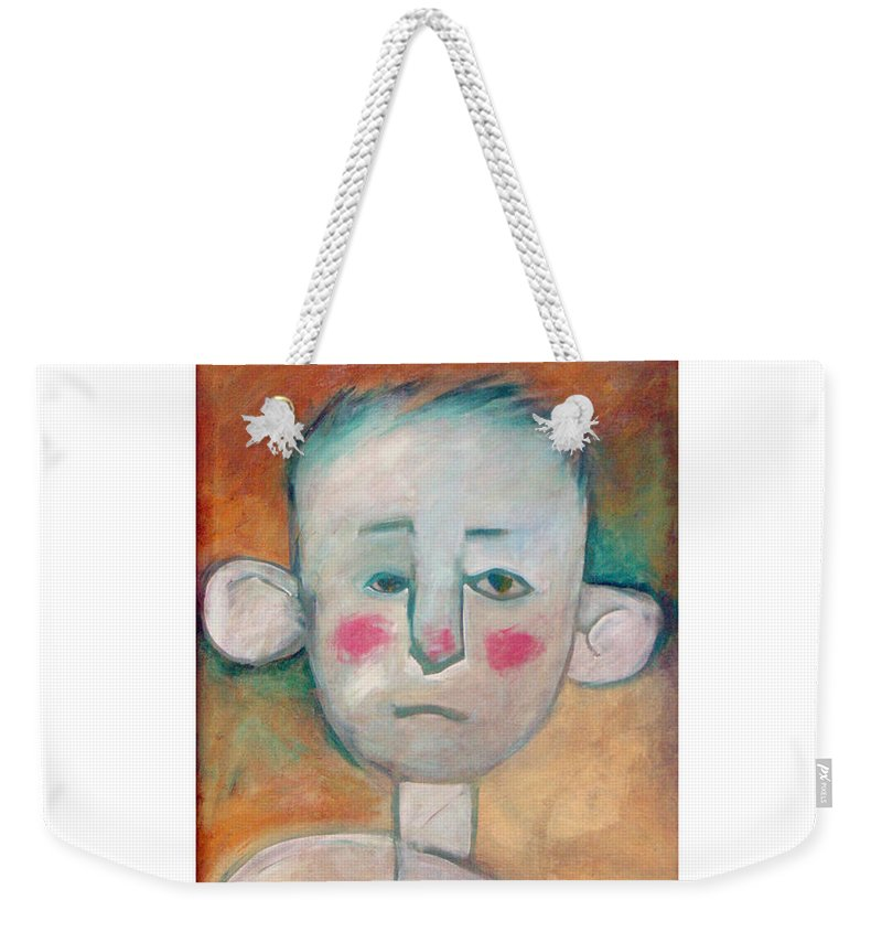 Boy Weekender Tote Bag featuring the painting Boy by Tim Nyberg