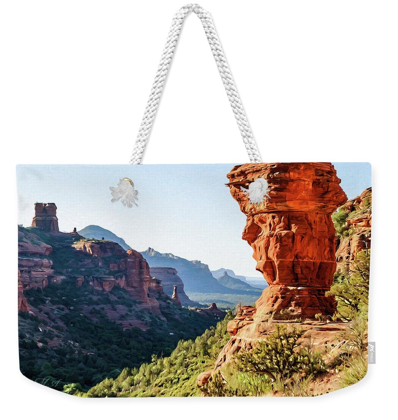 Arizona Weekender Tote Bag featuring the photograph Boynton Canyon 04-321 by Scott McAllister