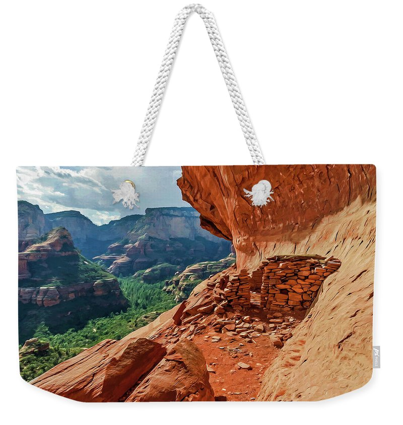 Photo Weekender Tote Bag featuring the photograph Boynton Canyon 08-174 by Scott McAllister