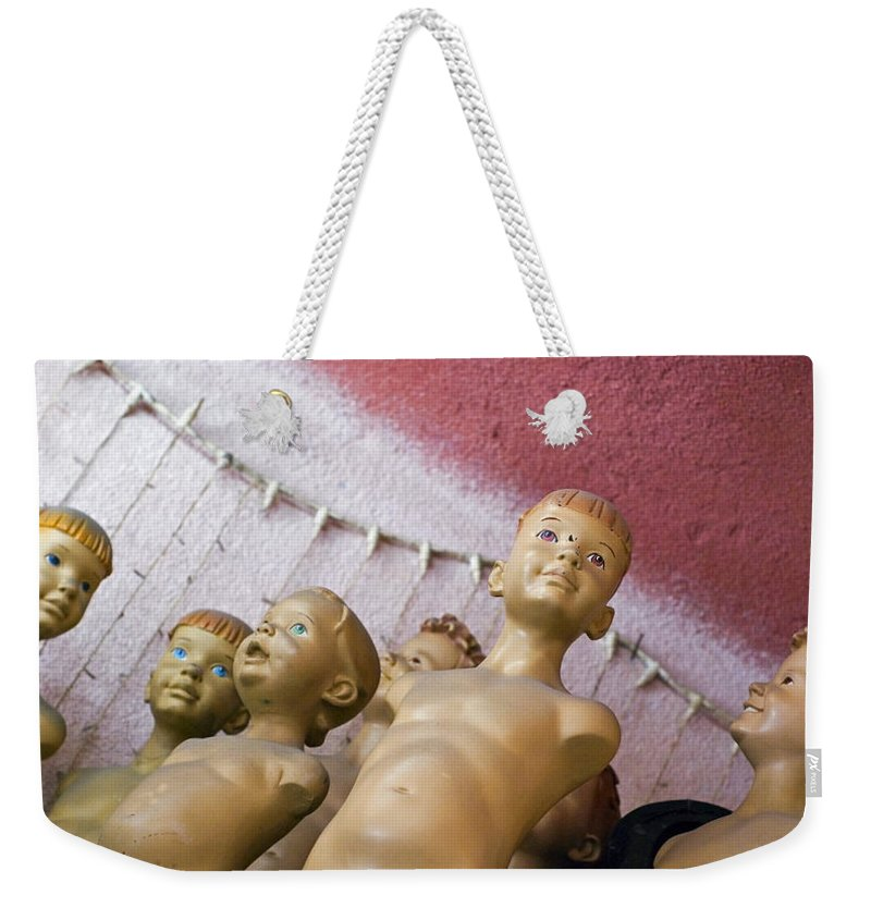 Boy Weekender Tote Bag featuring the photograph Boys Club by Skip Hunt