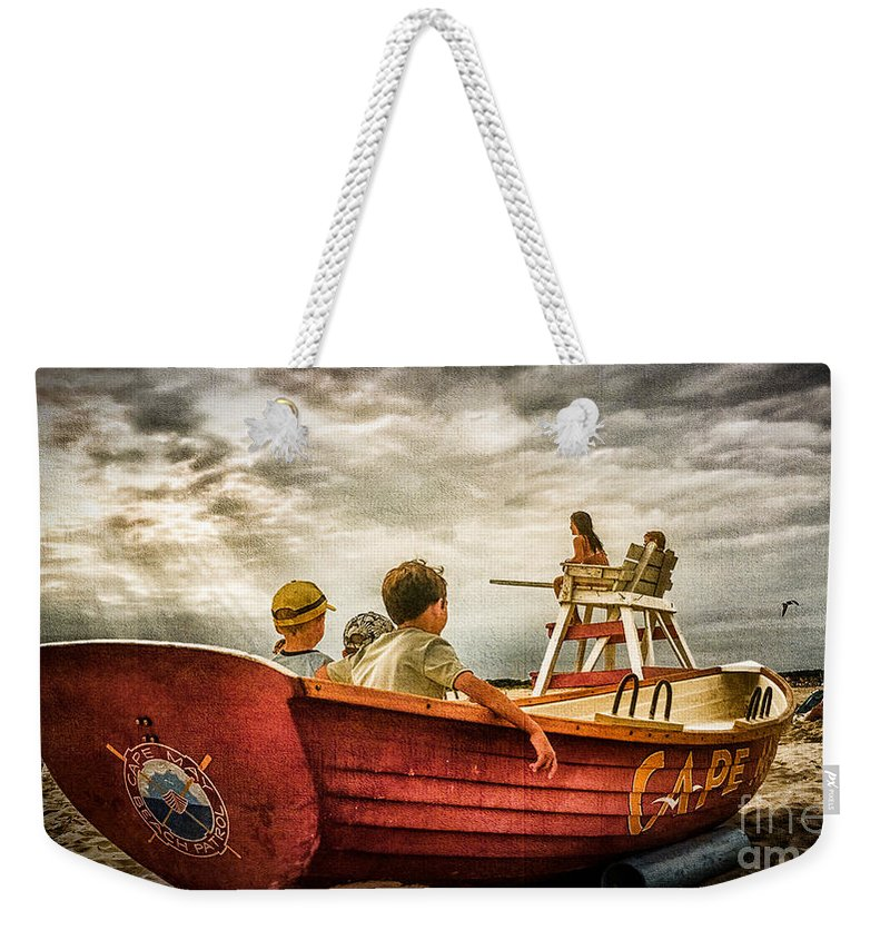 Margate Weekender Tote Bag featuring the photograph Boys Of Summer Cape May New Jersey by Alissa Beth Photography