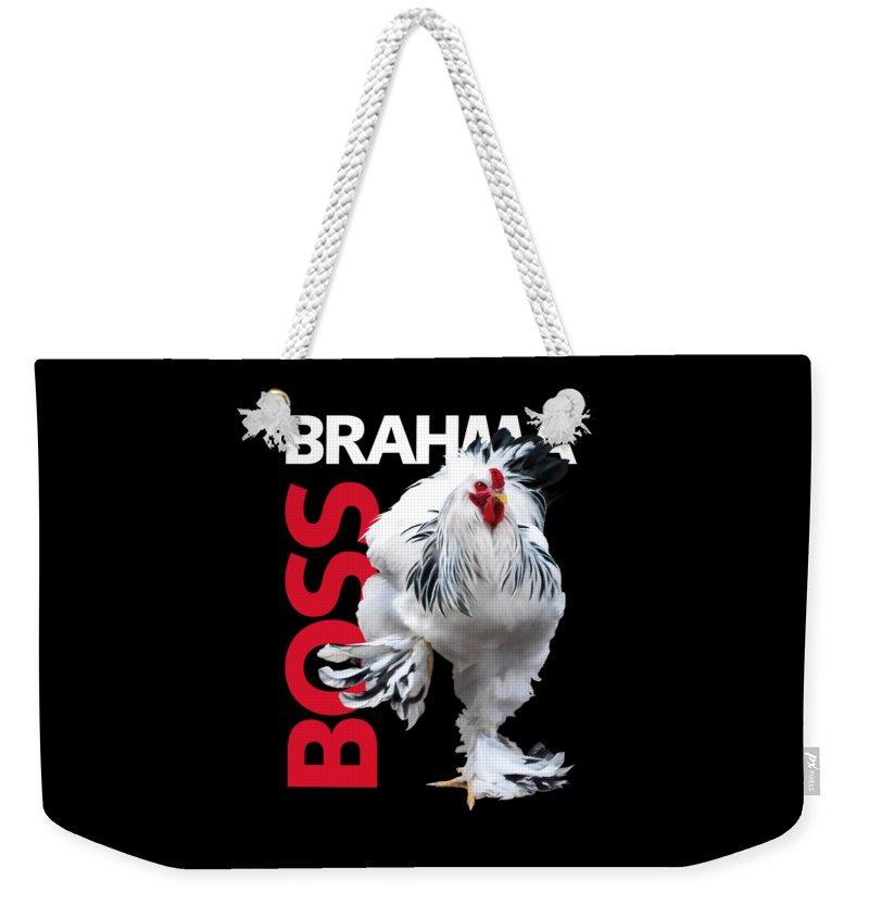 Brahma Weekender Tote Bag featuring the digital art Brahma Boss T-shirt Print by Sigrid Van Dort