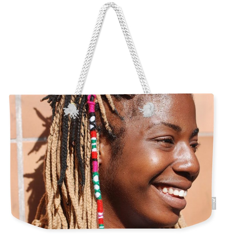 People Weekender Tote Bag featuring the photograph Braided Lady by Rob Hans