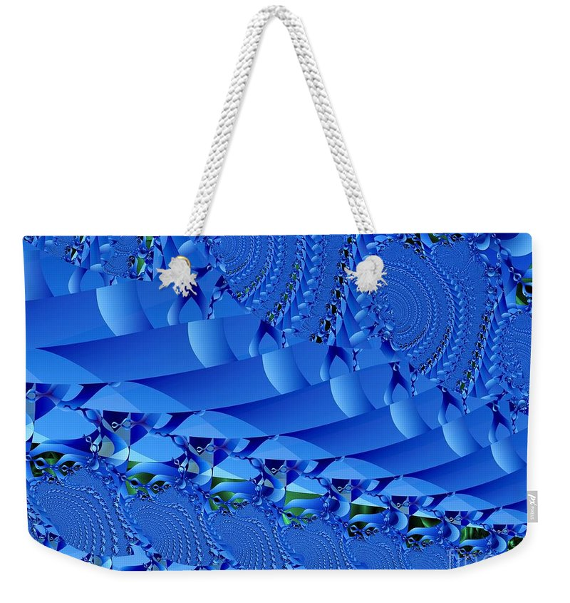 Fractal Image Weekender Tote Bag featuring the digital art Braided Ribbon Wall by Ron Bissett