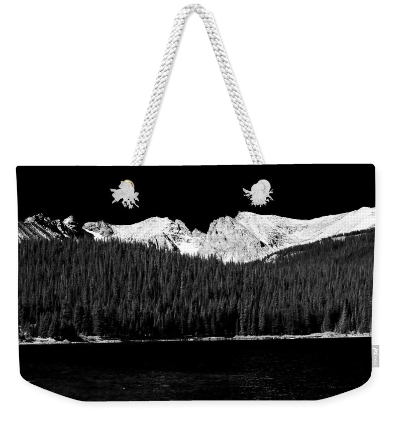 Brainard Lake Weekender Tote Bag featuring the photograph Brainard Lake - Indian Peaks by James BO Insogna