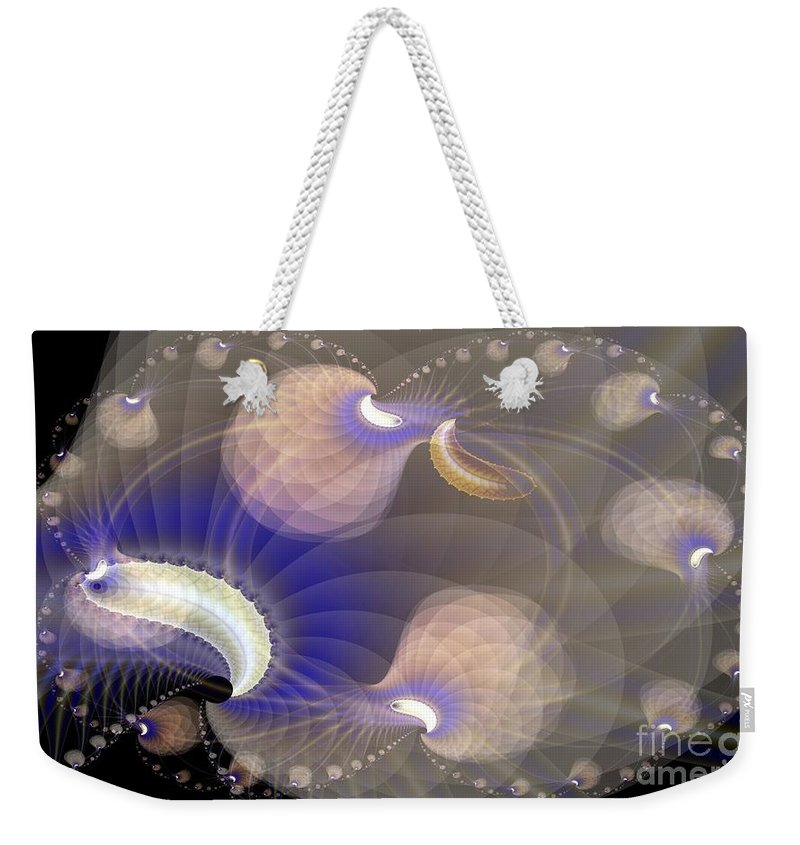 Weekender Tote Bag featuring the digital art Brains In Motion 2 by Ron Bissett