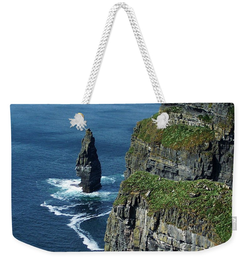 Irish Weekender Tote Bag featuring the photograph Brananmore Cliffs Of Moher Ireland by Teresa Mucha